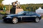 Гонки по импровизированной трассе на 420-сильных купе XKR на Лужнецкой набережной