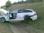 BMW M5 Touring Crash