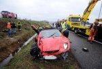 Отец и сын уцелели в аварии, Ferrari F430 Spider